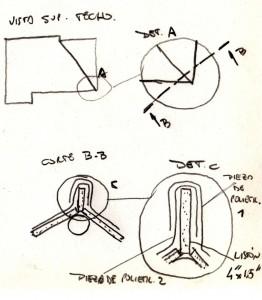 Croquis detalle limatesa